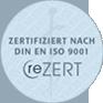 reZERT — Zertifiziert nach DIN EN ISO 9001